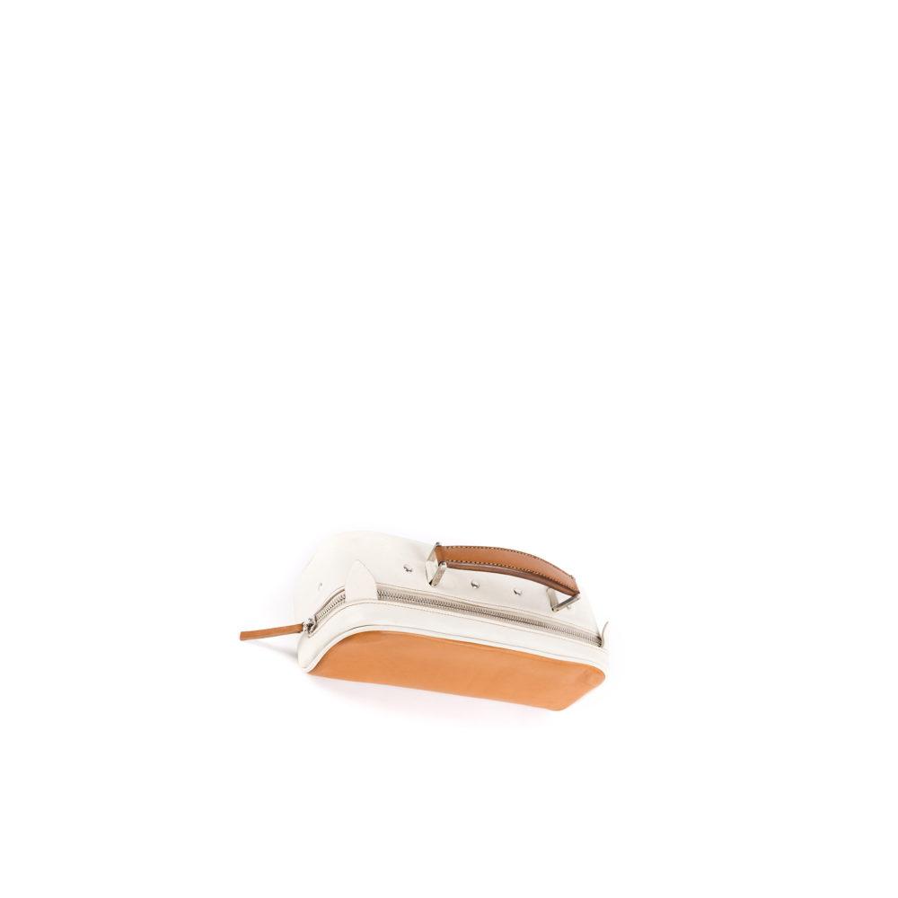 Suitcase Mini - Glossy leather - Orange color