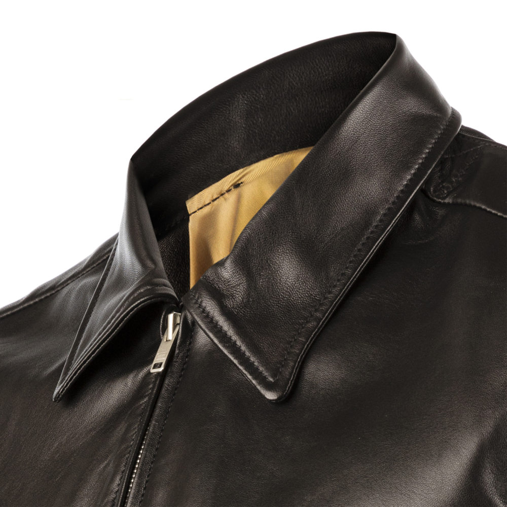 Brooklyn Fiter Jacket - Dipped leather - Black color