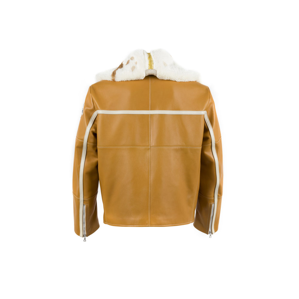 Chapalac Jacket - Lacquered leather - Yellow color