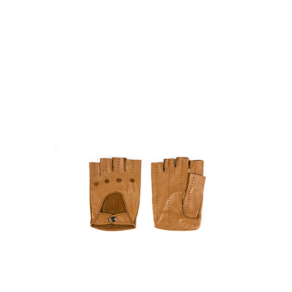 Driver Mittens - Lamb leather - Tan color