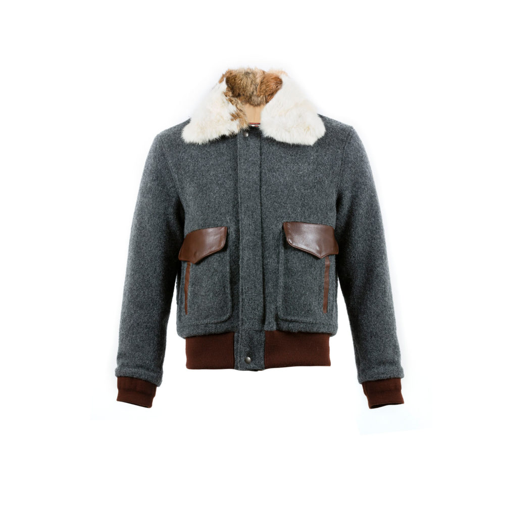 USAAF Jacket - Merino wool - Grey color