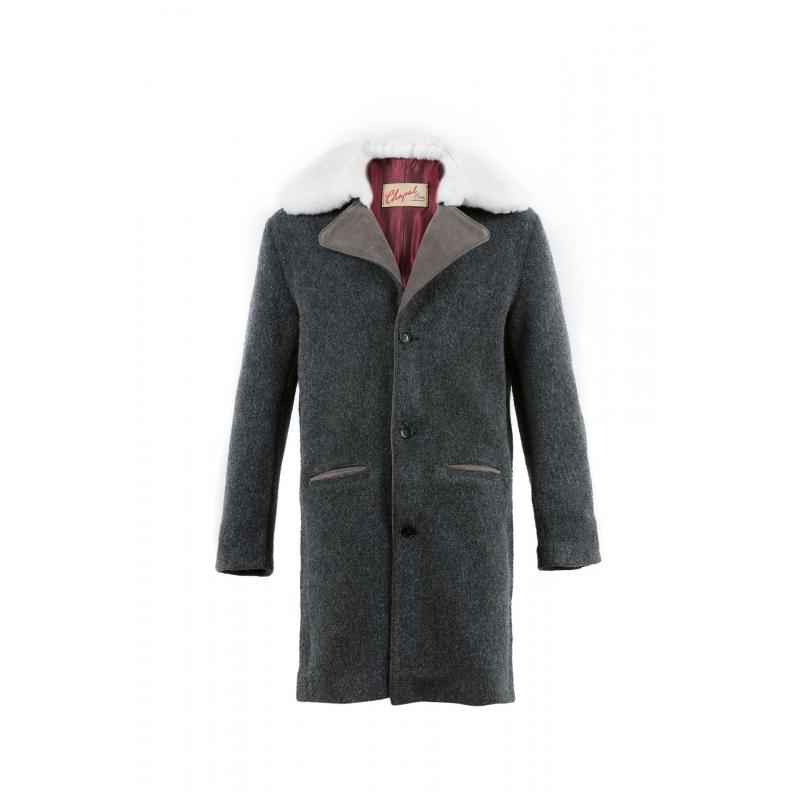 Manteau N°1 laine bouillie gris