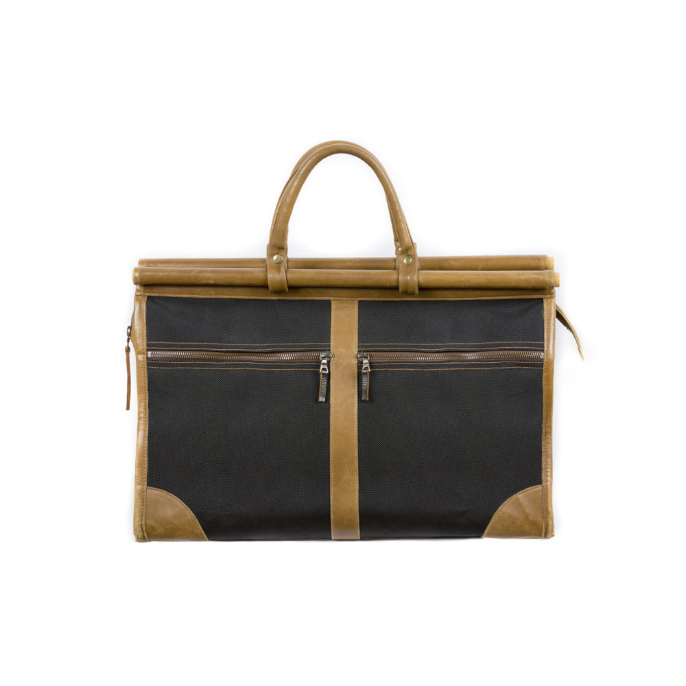 Hunting Bag - Gabardine and glossy leather