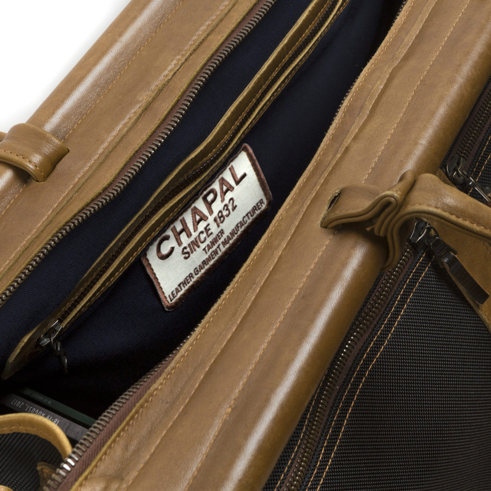 Hunting Bag - Carbone fabric and glossy leather
