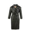 Trench Coat - Glossy leather - Anthracite color