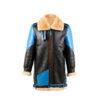 B3 3/4 Coat - Varnished shearling - Blue color