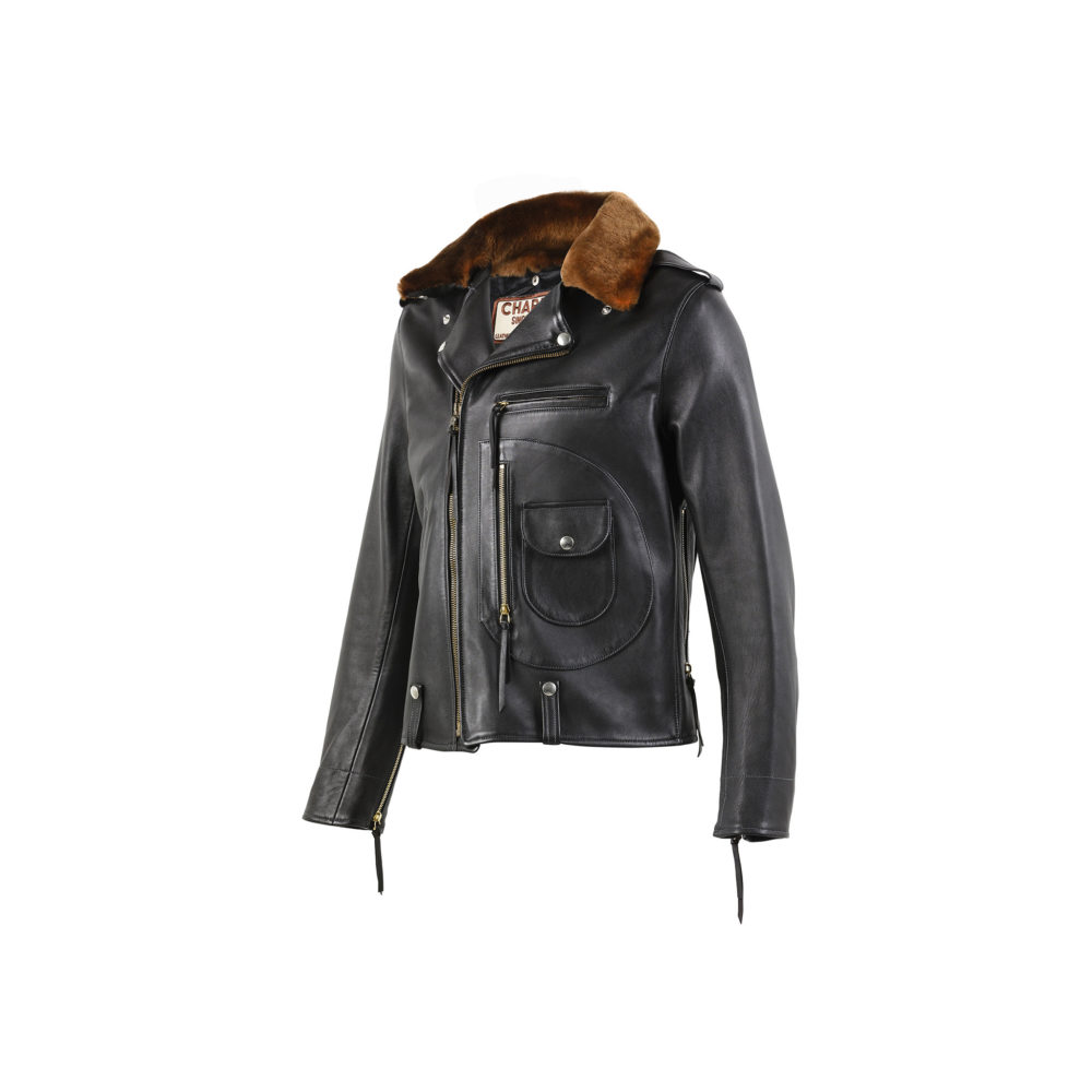 BB Jacket - Glossy Leather - Black color