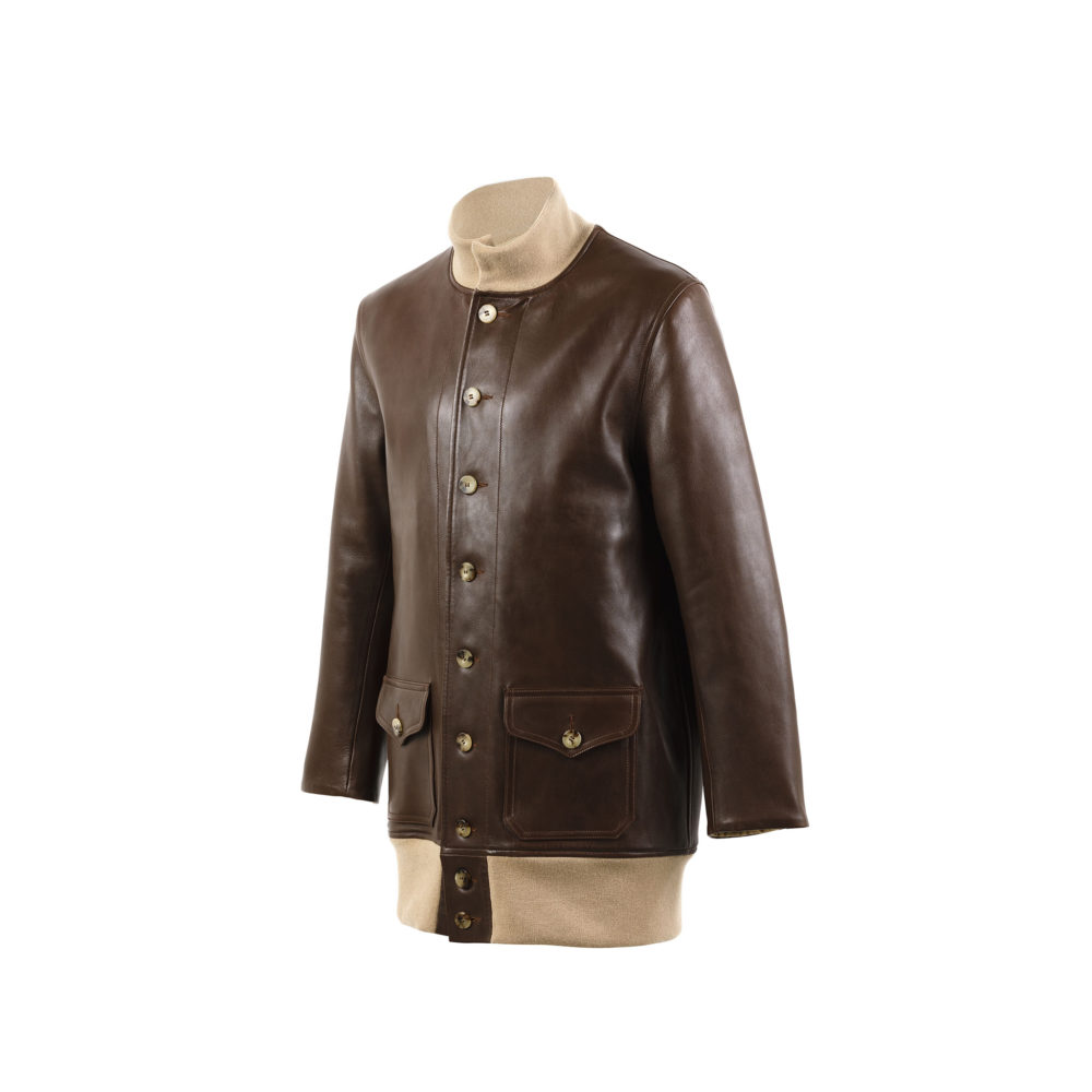 A1 3/4 Jacket - Glossy leather - Brown color