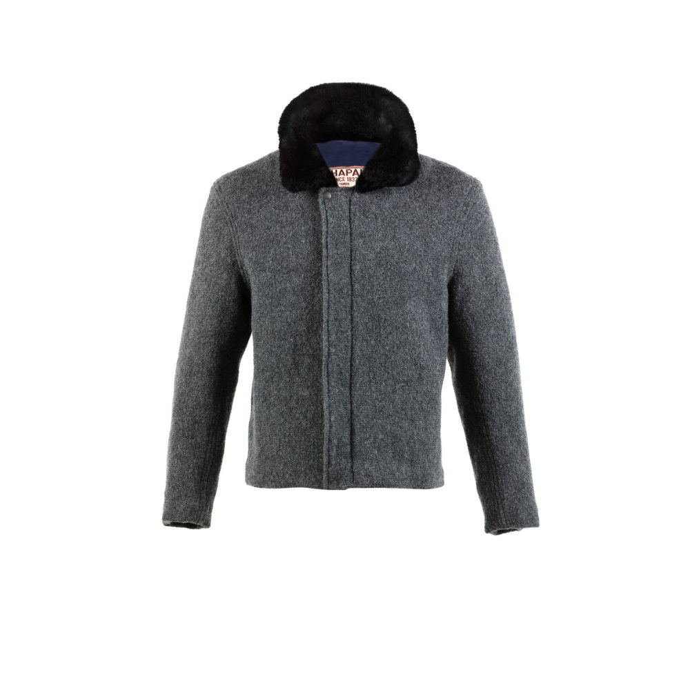 Bomber Jacket - Merino wool - Grey color