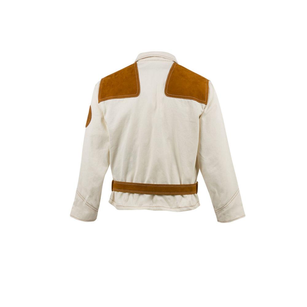 Overall Top 1950 Jacket - Cotton gabardine - Ecru color