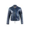 Pilote Français Jacket - Glossy leather - Blue color
