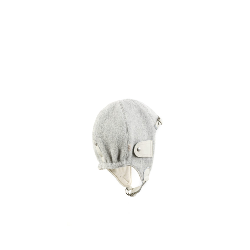 Driver Helmet - Merino wool - Grey color