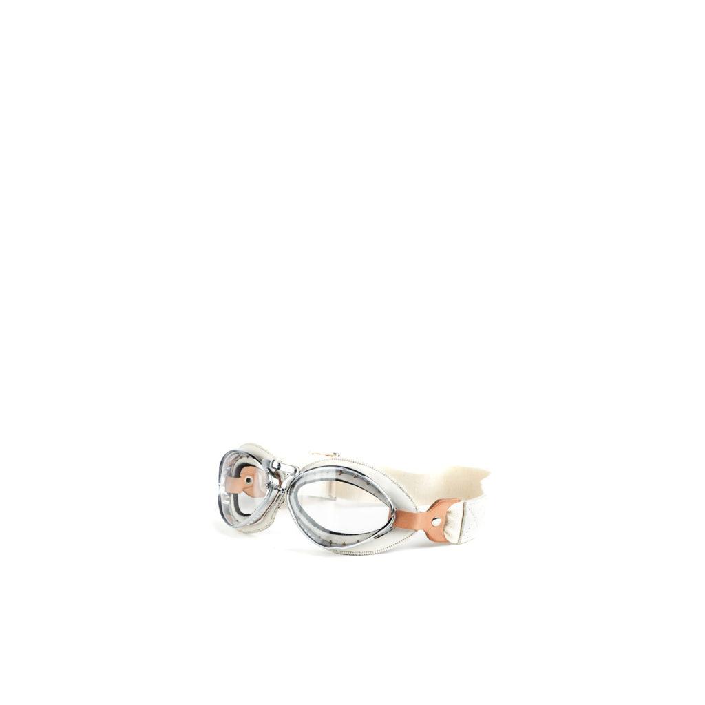 Lunettes Grand Modèle - Cuir glacé - Couleur blanc