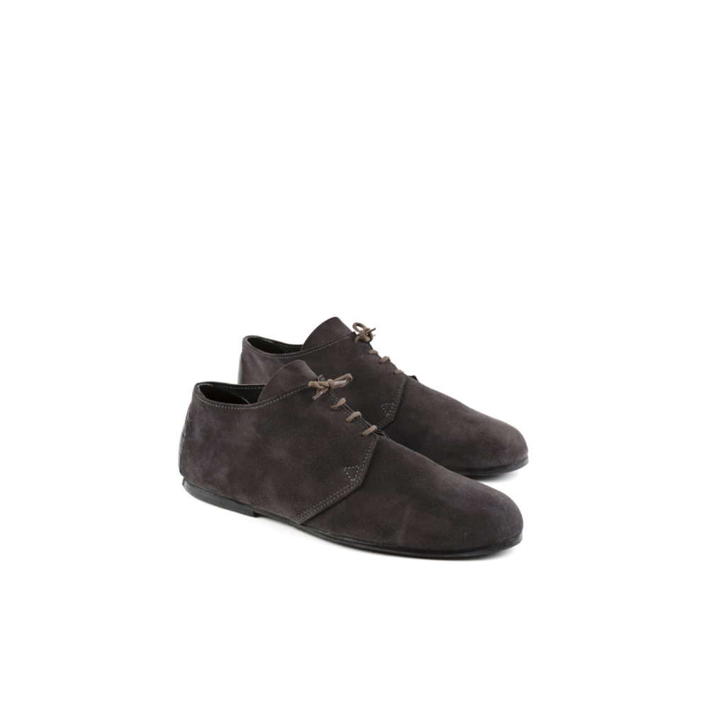 Titi Derby Shoes - Suede leather - Black color