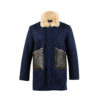 Bomber Country 3/4 Jacket - Merino wool - Blue color