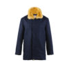 Bomber 3/4 Jacket - Merino wool - Blue color