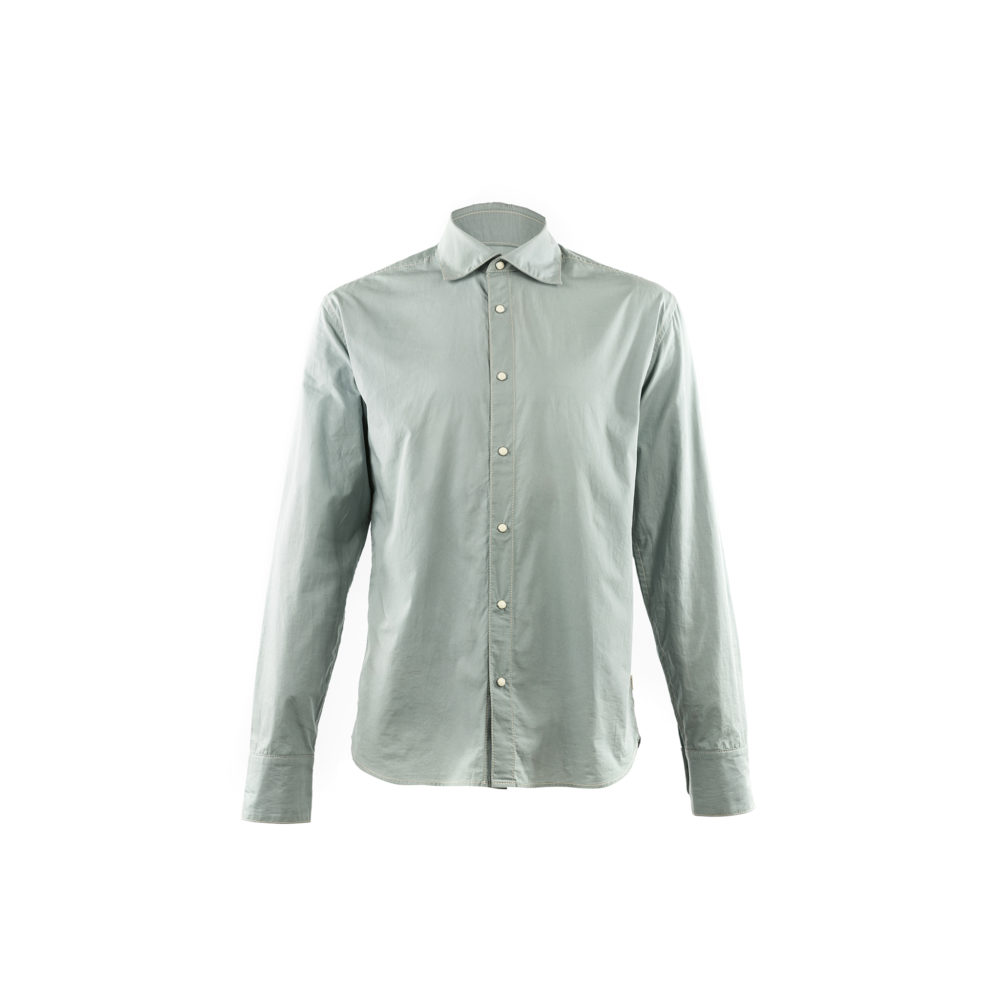 70's shirt - Cotton poplin - Blue color