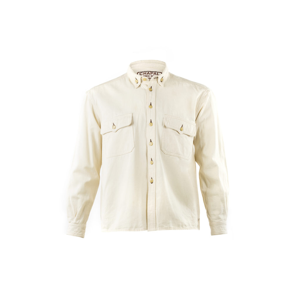 Pilot Shirt - Cotton gabardine - Ecru color
