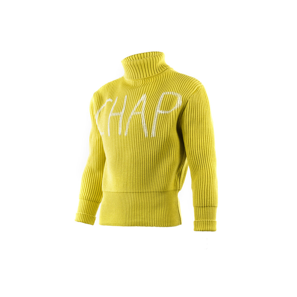 Nuvolari Jumper - Wool and acrylic - Yellow color
