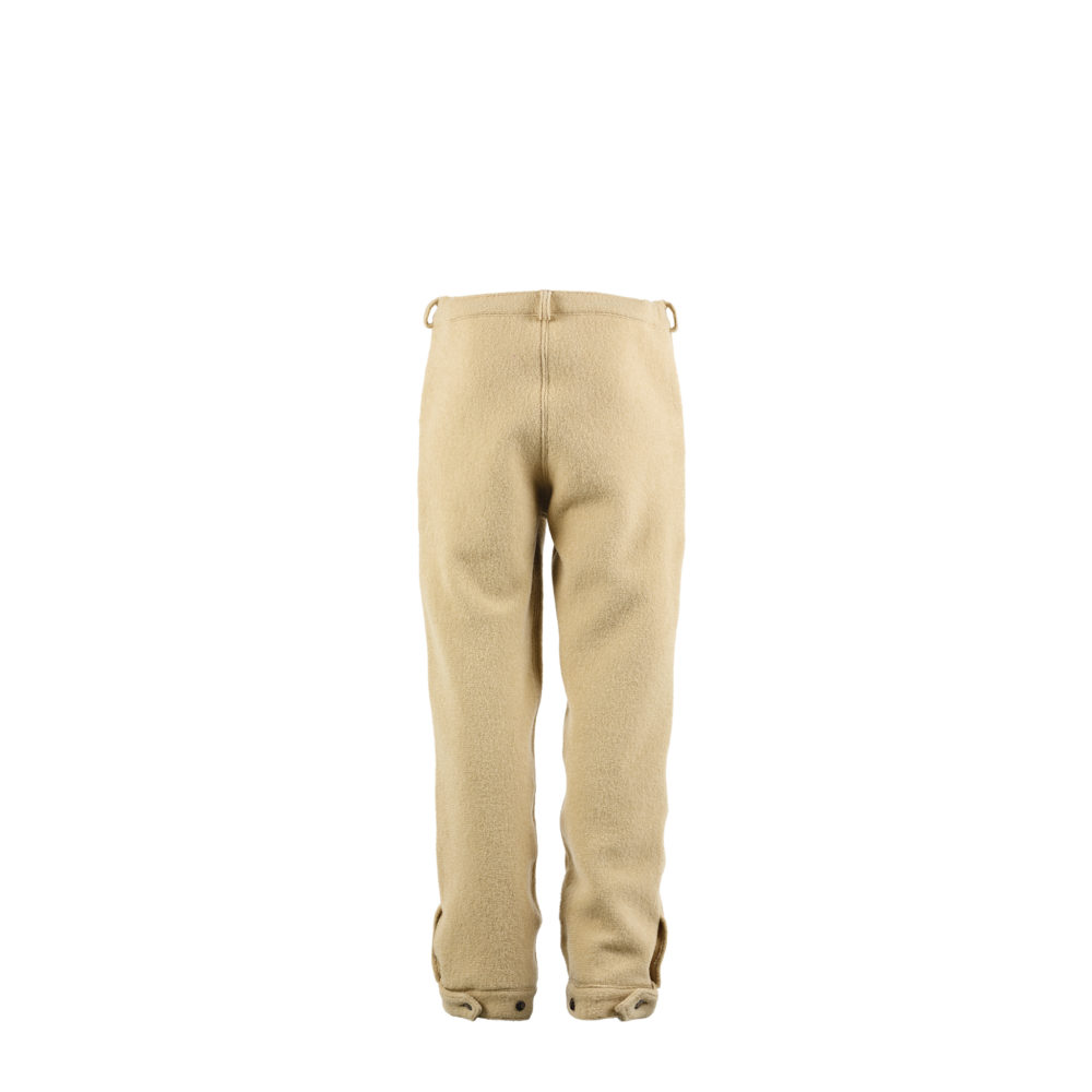 Pilot Pants Country - Merino wool and shearling - Beige color