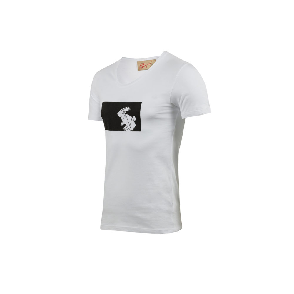 T-shirt Origami - Cotton jersey - White color