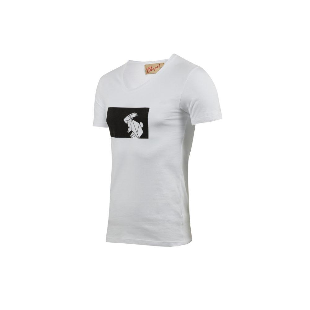 T-shirt Origami - Jersey de coton - Couleur blanc