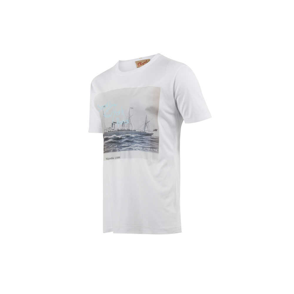 T-shirt Majestic - Cotton jersey - White color