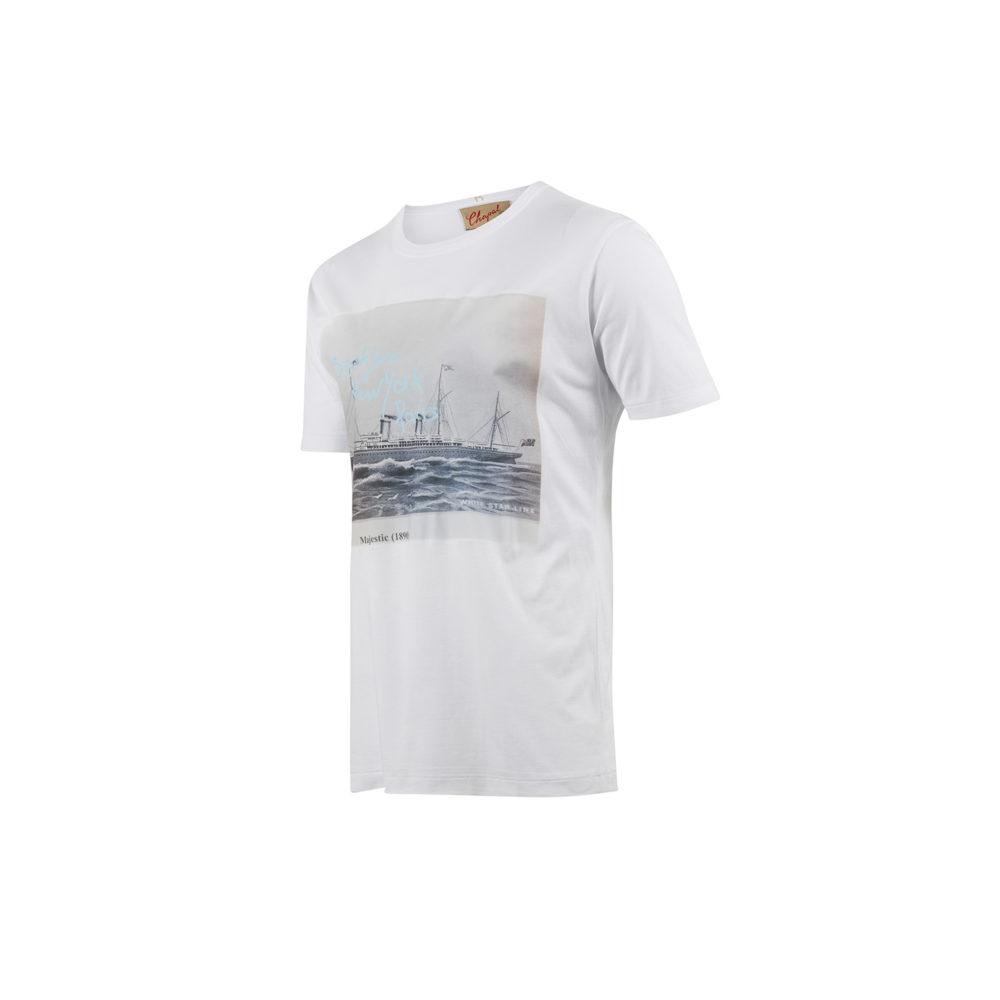 T-shirt Majestic - Jersey de coton - Couleur blanc