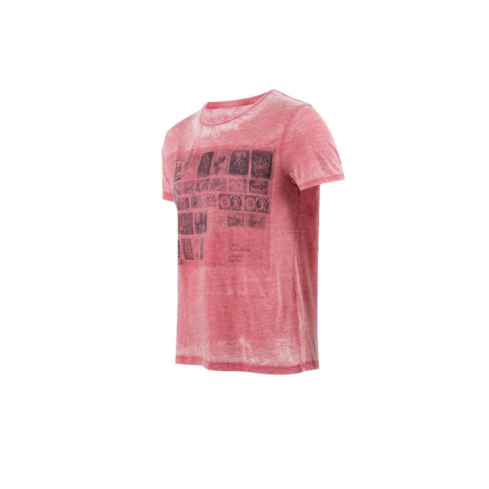 T-shirt Stamp Red - Jersey de coton - Couleur rouge