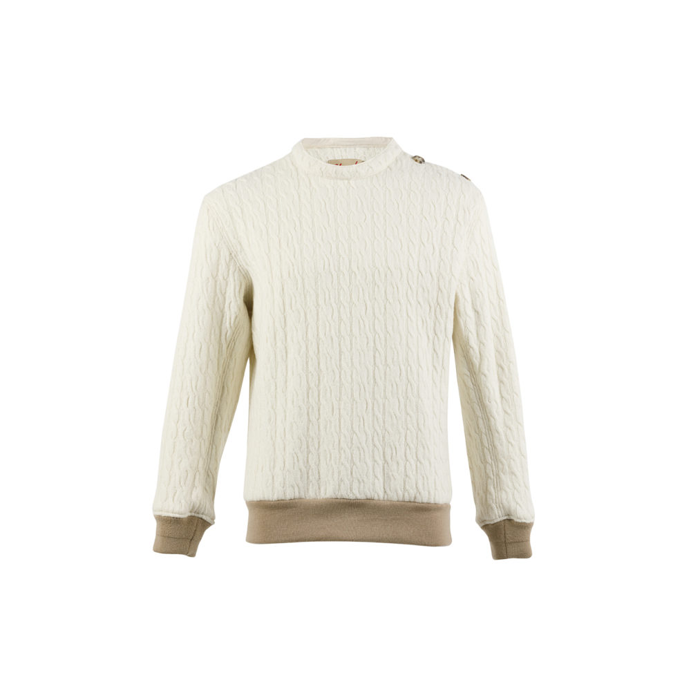 Jumper N°1 - Merino wool - Ecru color