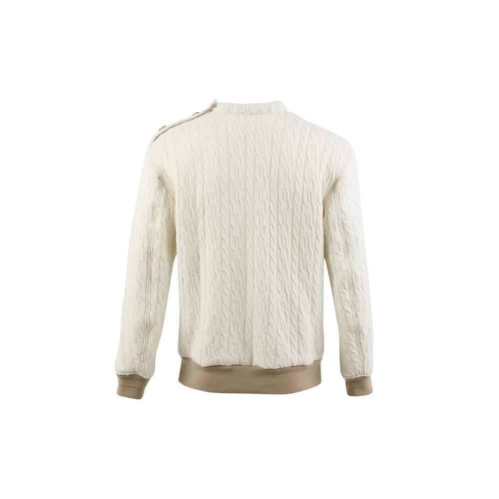 Jumper N°1 - Merino wool - Ecru color