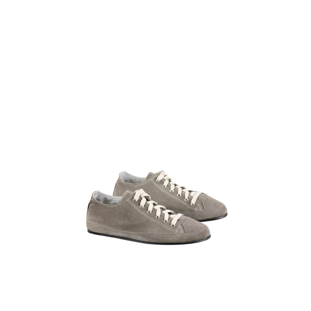 Baskets Basses - Cuir velours - Couleur gris