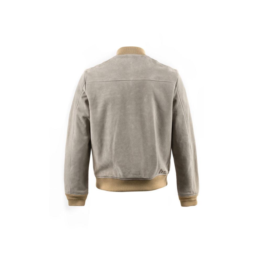 Blouson Daim - Suede leather - Grey color