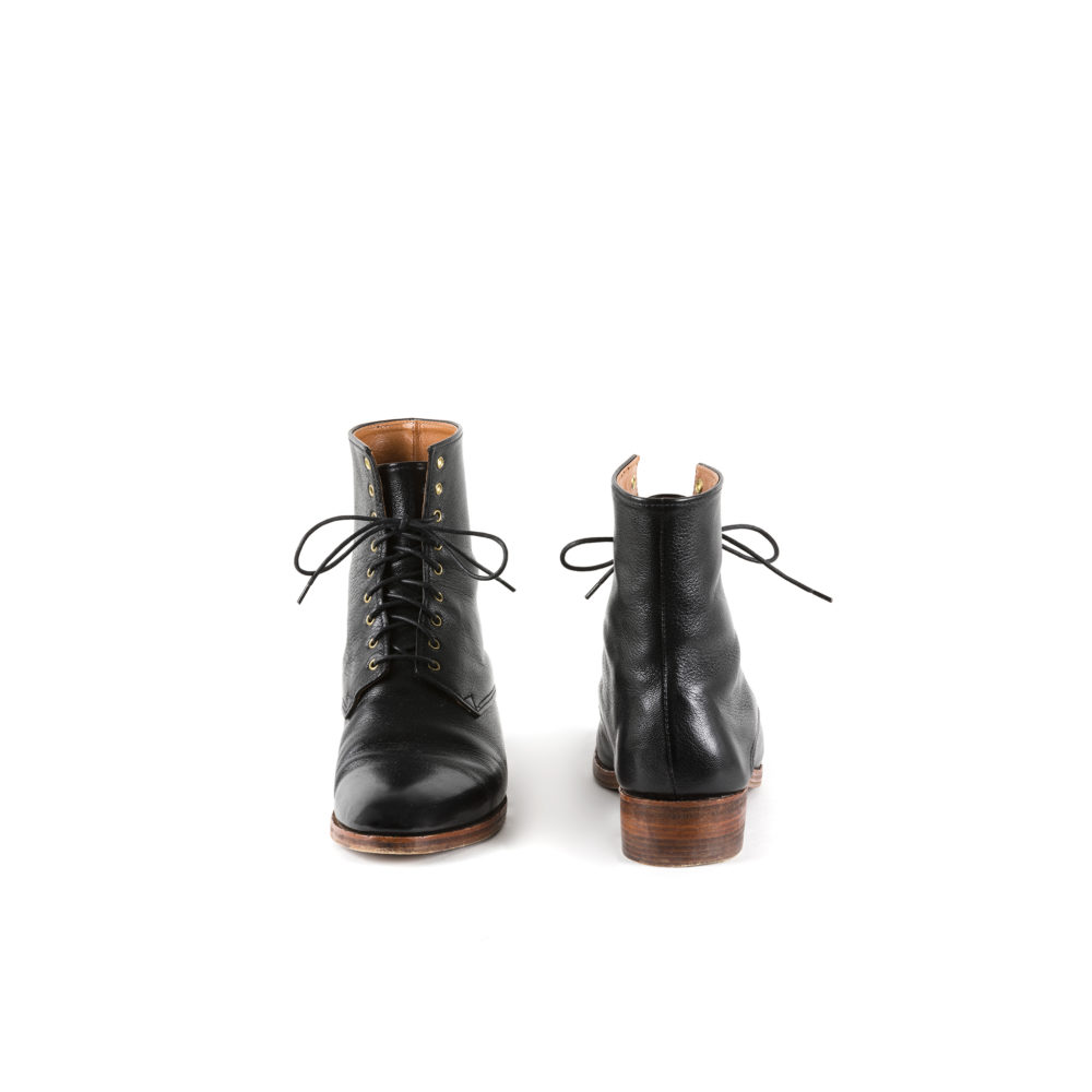 Simone Boots - Glossy leather - Black color