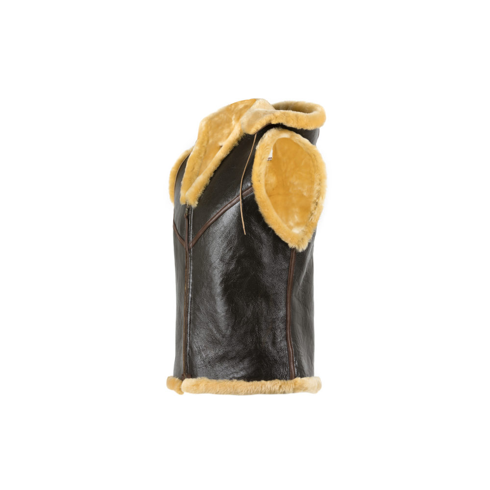 C3 Vest - Varnished shearling - Gold color