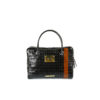 Mosaic Suitcase - Glossy leather - Black and brown colors