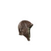 Driver Helmet - Camouflage lining - Glossy leather - Brown color