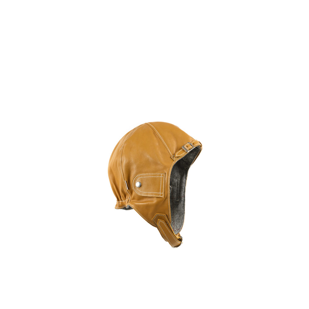 Casque Automobiliste - Doublure flanelle Fox Brothers - Couleur tan