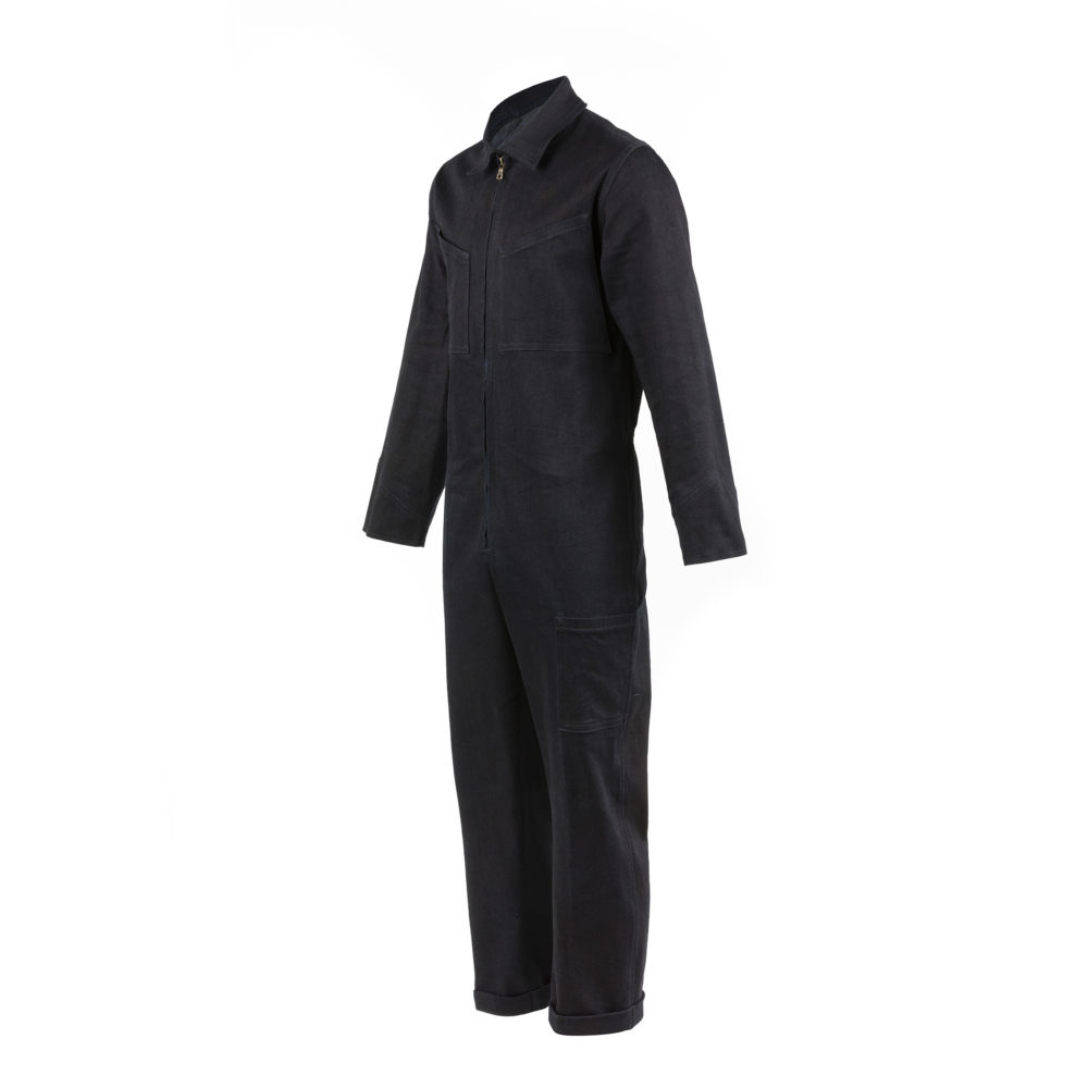 Black Cotton Overall - Denim canvas