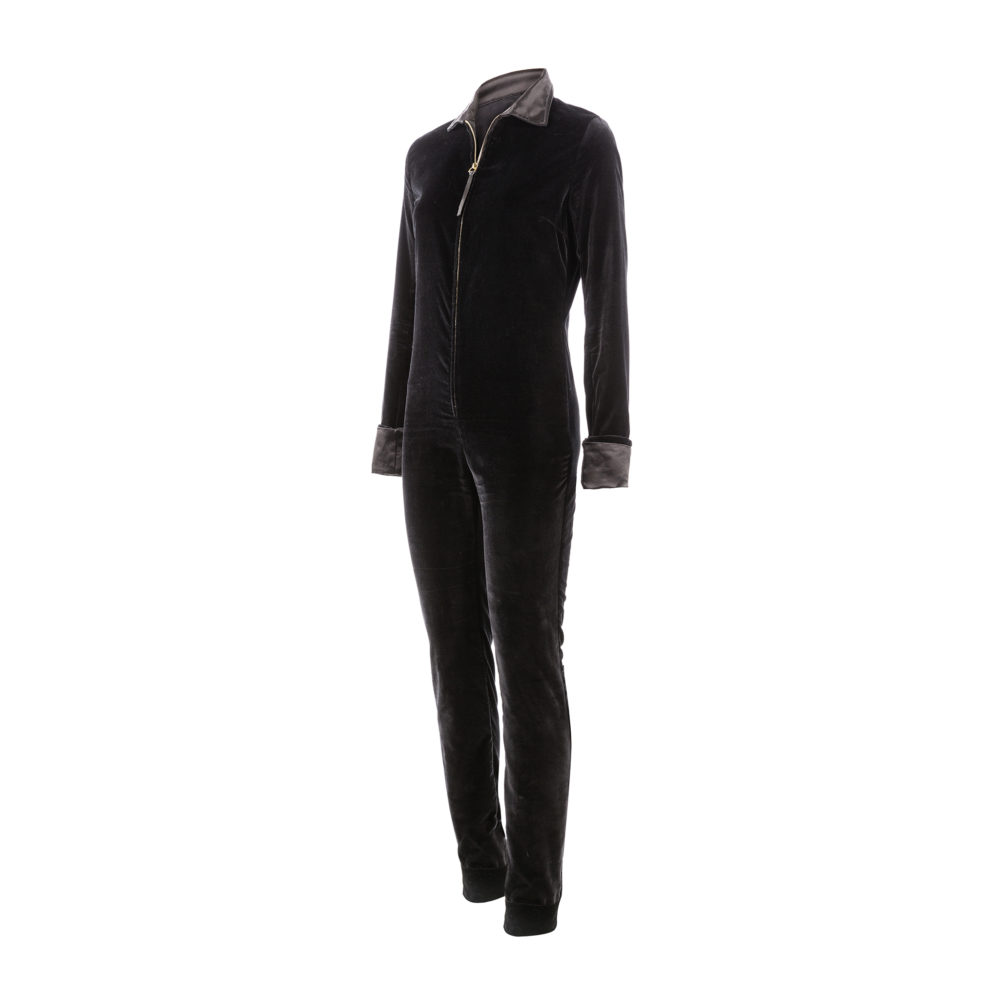 Simone Overall - Velvet - Black color