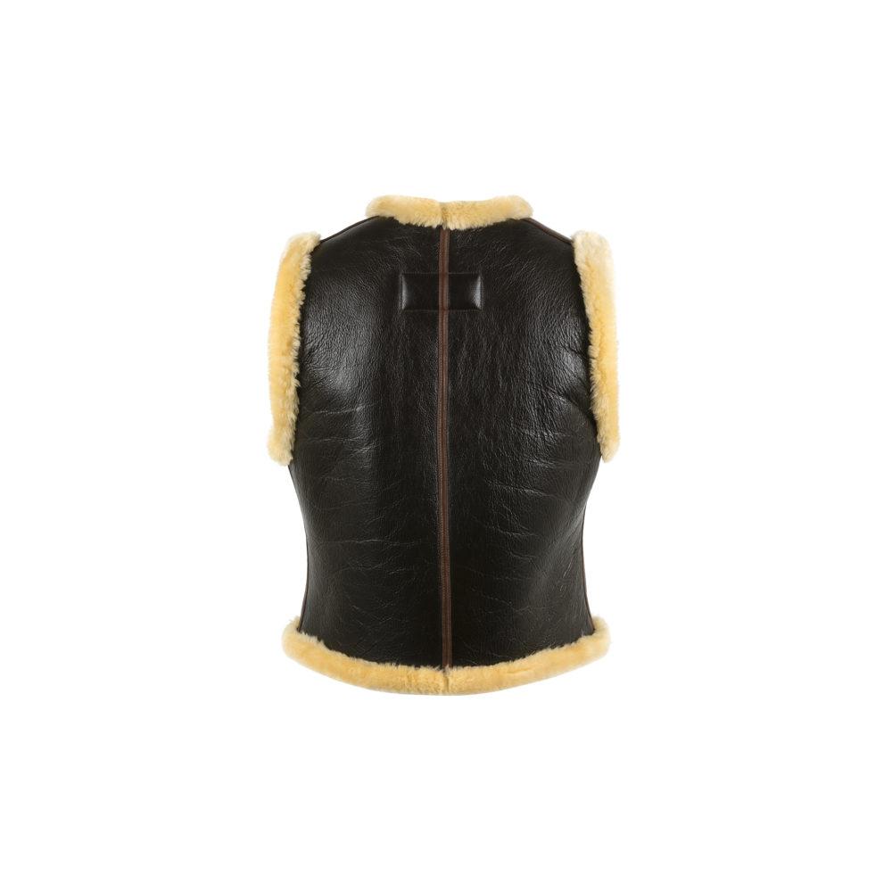 Ecstasy Vest - Varnished shearling - Gold color