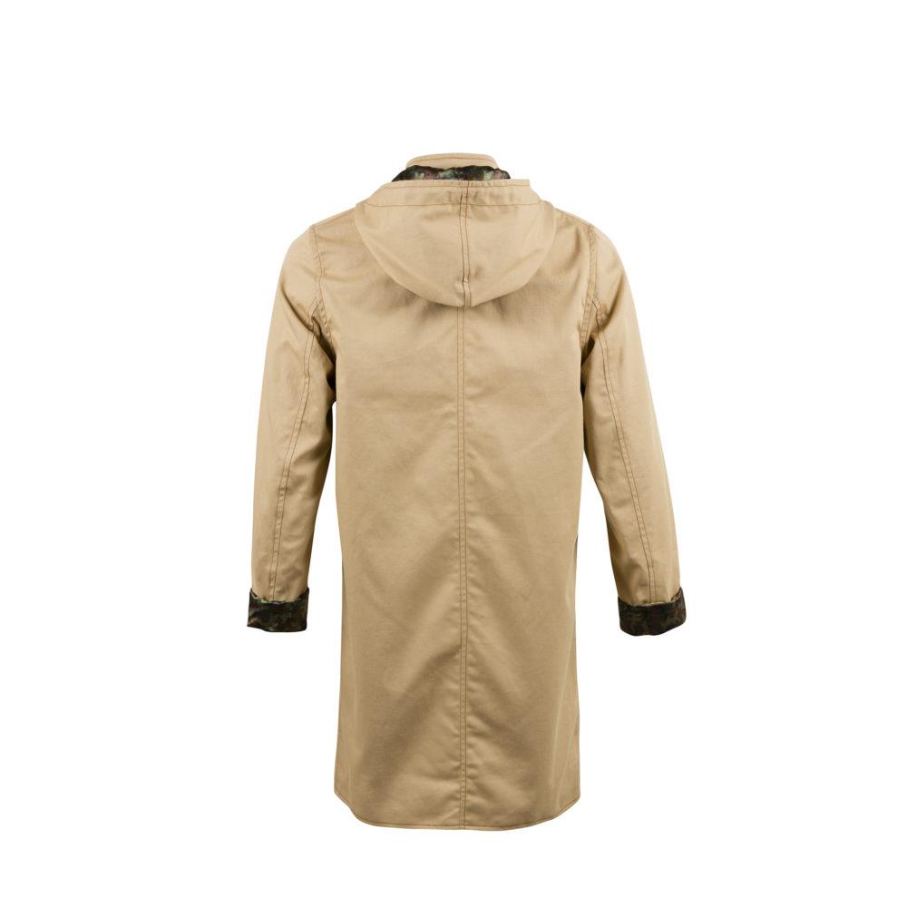 Imperméable - Doublure camouflage - Gabardine de coton - Couleur beige