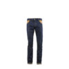 Jeans 2008AC - Denim canvas and glossy leather - Tan color