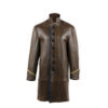 Empire Coat - Glossy leather - Brown color