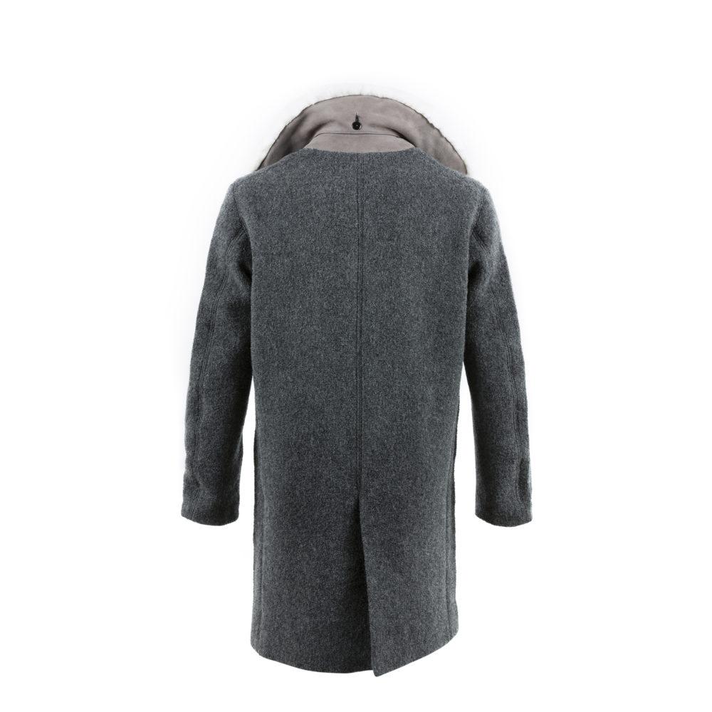 Coat N°1 - Merino Wool - Anthracite color