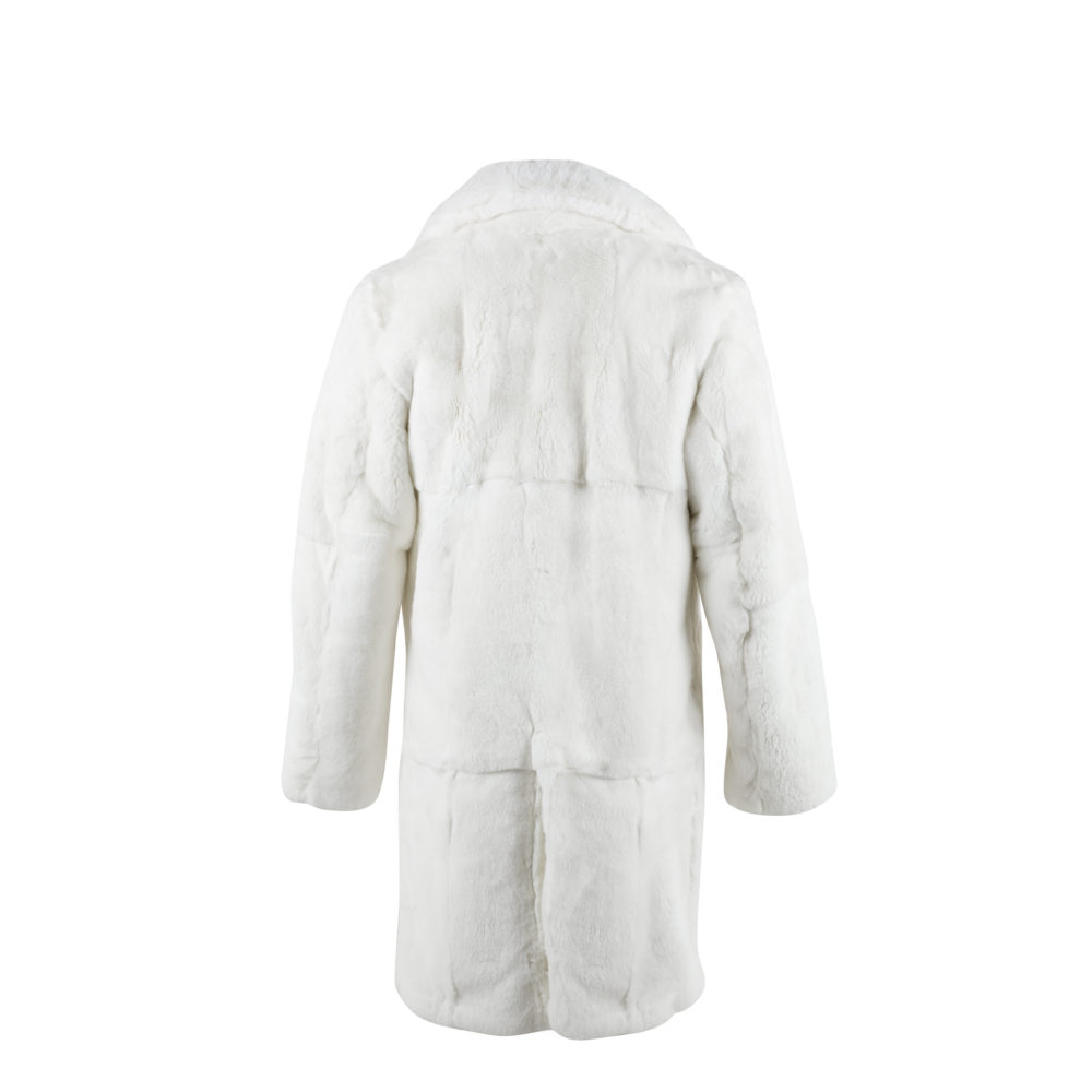 Coat N°1 - Rabbit fur - White color