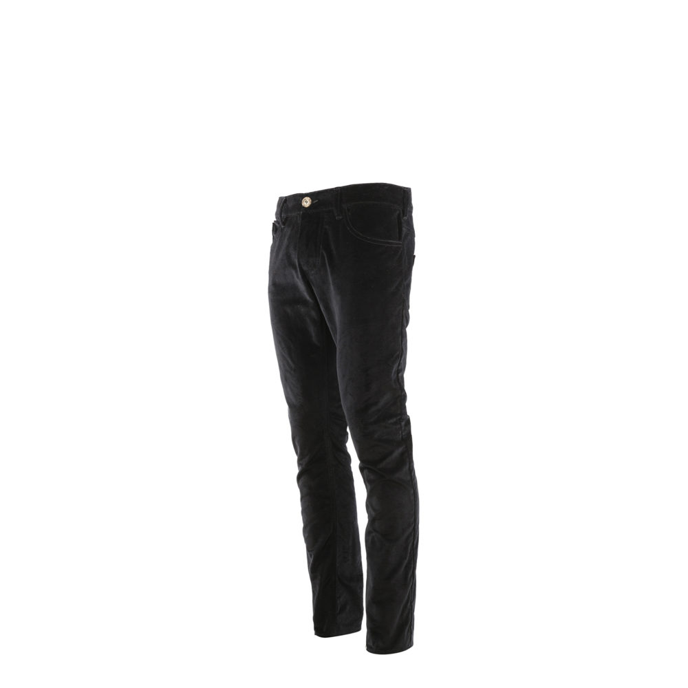 Pants 2008A - Velvet - Black color