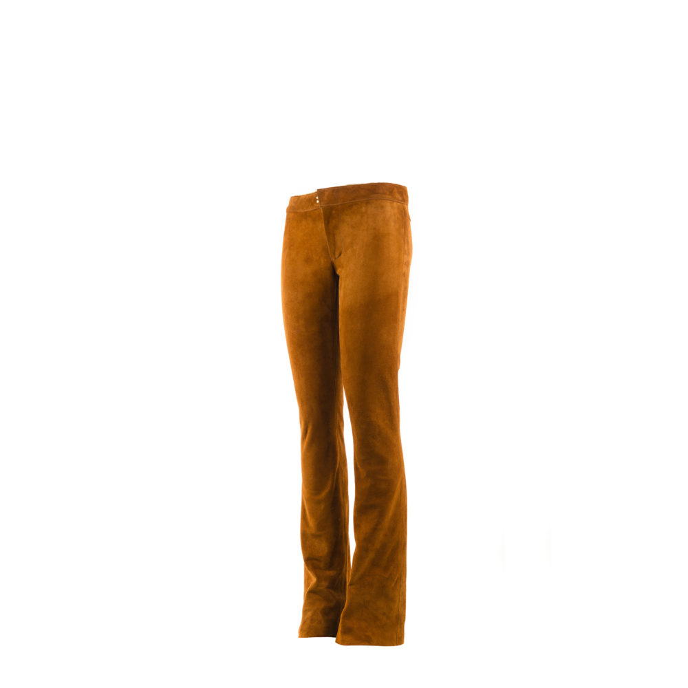 Pants Flare F - Suede leather - Suzy color