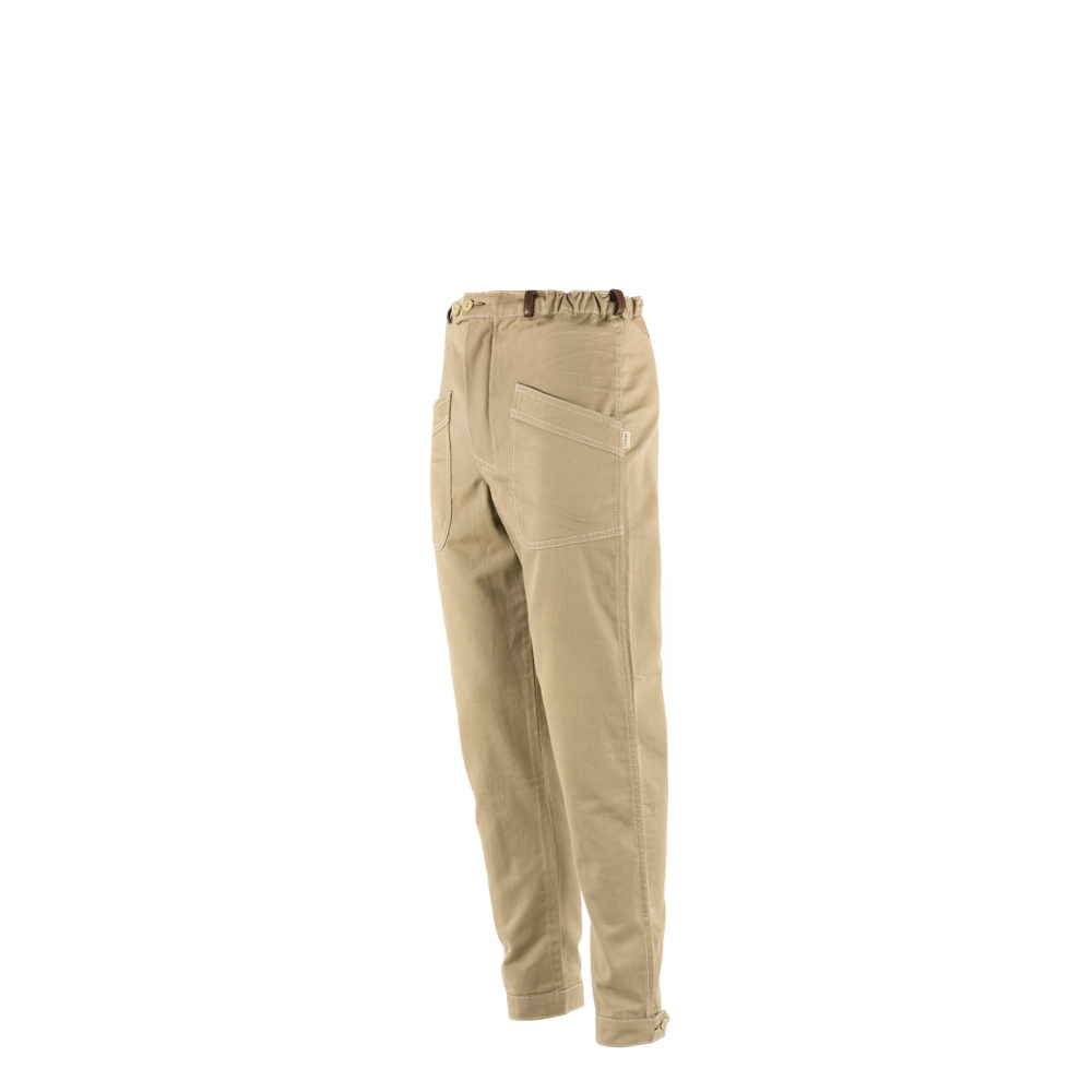 Pilot Pants - Cotton gabardine - Beige color