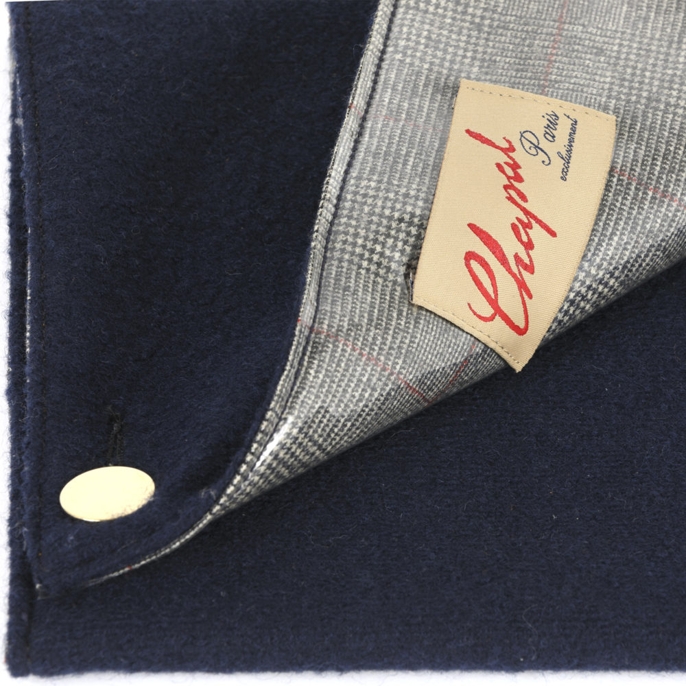 Wool Clutch - Merino wool - Blue color